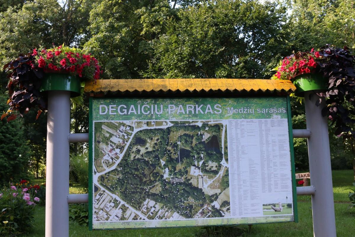 Degaičių parkas, Degaičių seniūnija