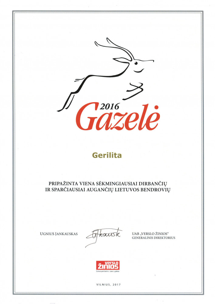 Gerilita, UAB