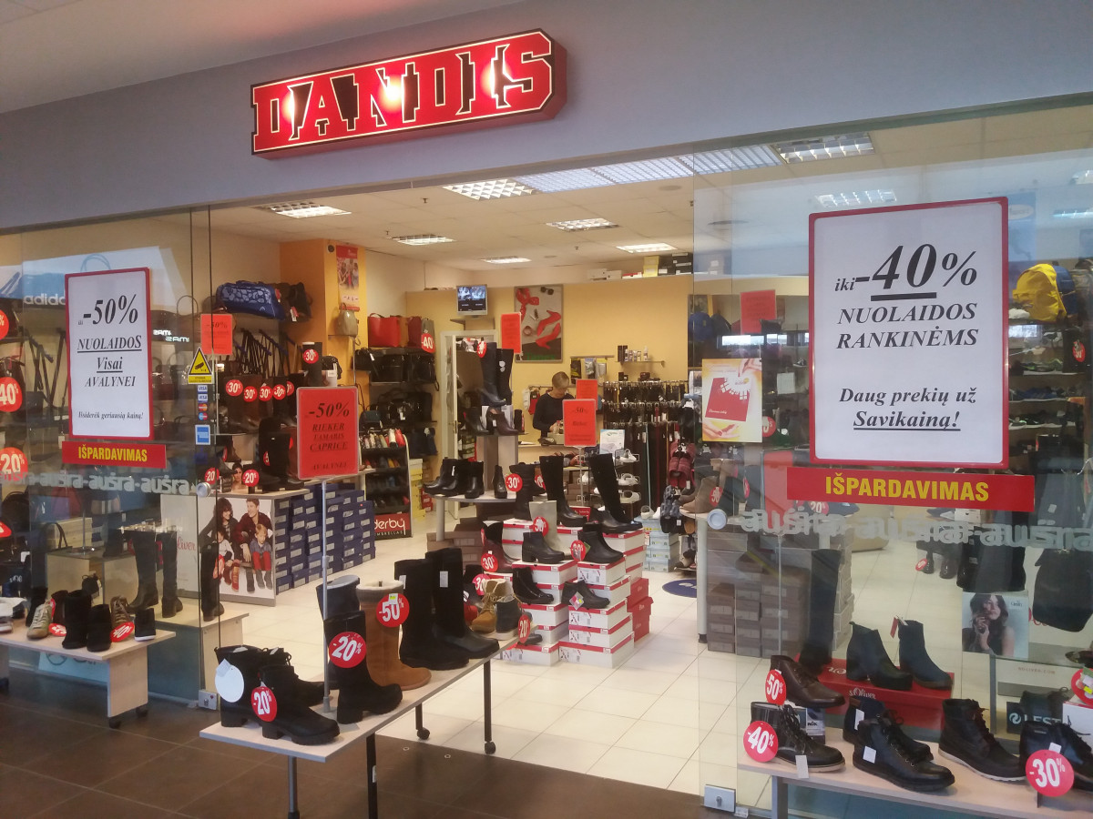 Dandis, batų parduotuvė, UAB