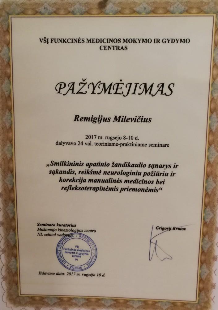 R. Milevičiaus kineziterapijos kabinetas, IĮ