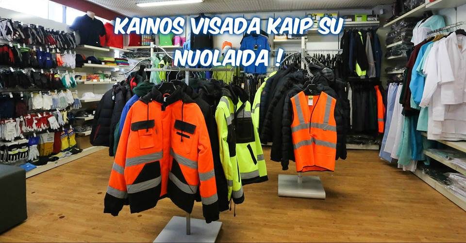 KDA fabrikas, darbo drabužių parduotuvė, UAB