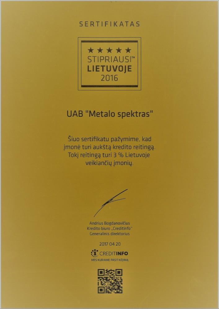 Metalo spektras, UAB