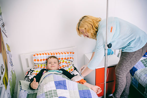 Mama, aš sergu, sergančių vaikų priežiūra, MB