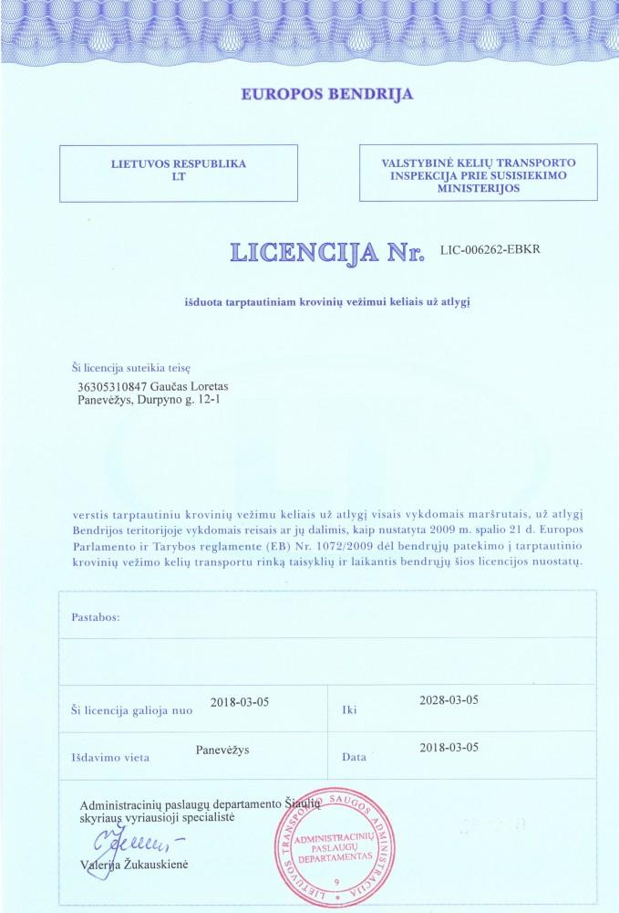 Transporto paslaugos, Loreto Gaučo IVV