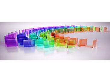 Stiklas interjere-eksterjere