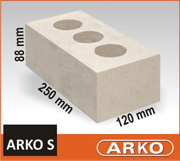 Arko, mūro blokai