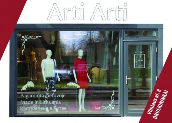 """ARTI ARTI, drabužių parduotuvė, UAB """"Eidvina"""""""
