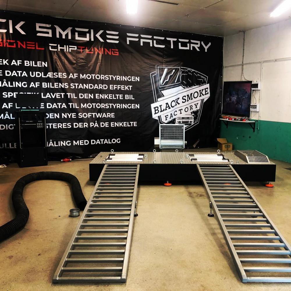 Black smoke factory
