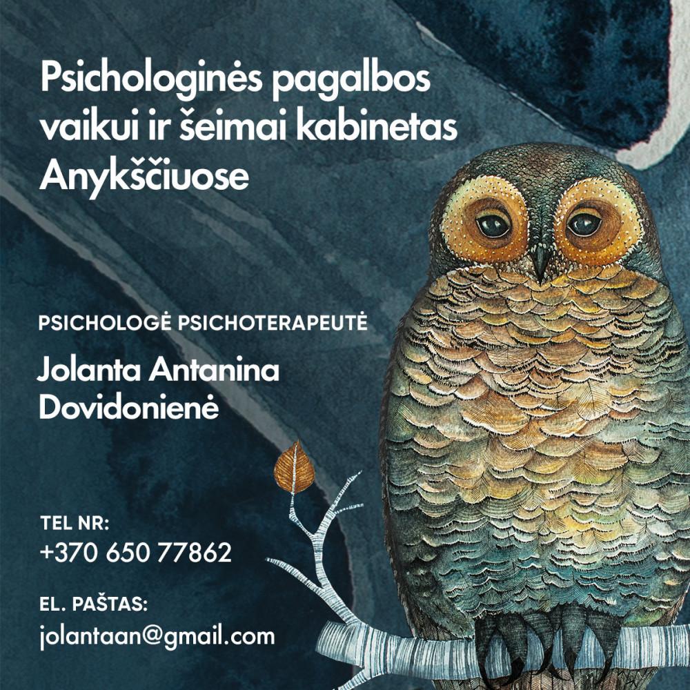 Psichologinės pagalbos vaikui ir šeimai kabinetas, J. A. Dovidonienės IVV