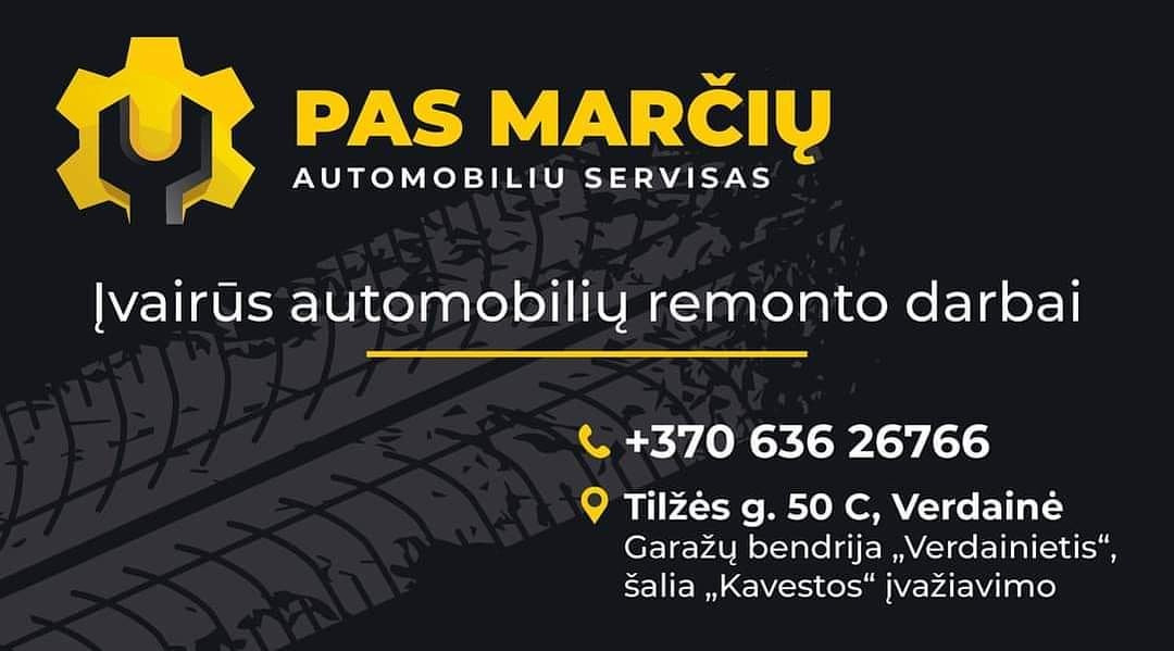 Pas Marčių, automobilių servisas