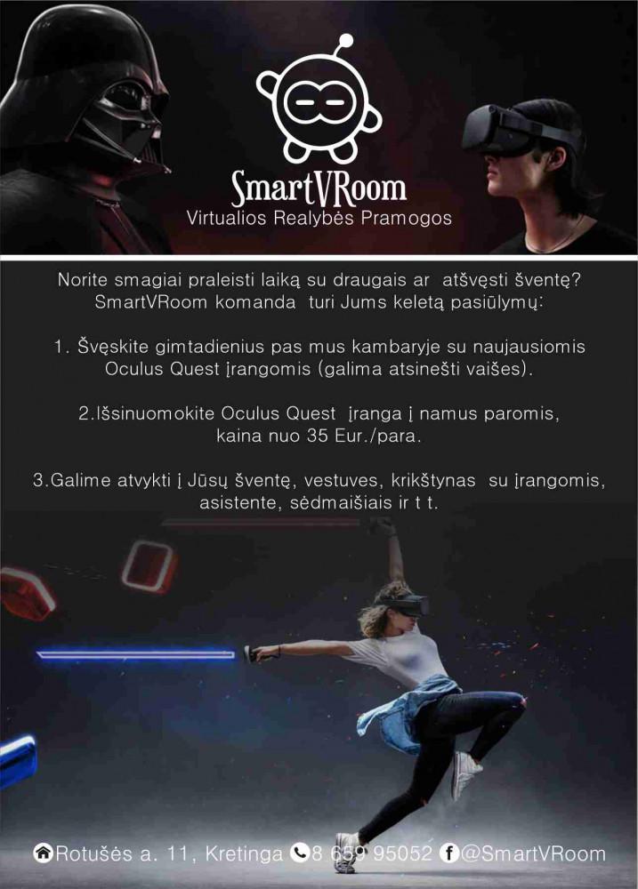 SmartVRoom, virtualios realybės pramogos