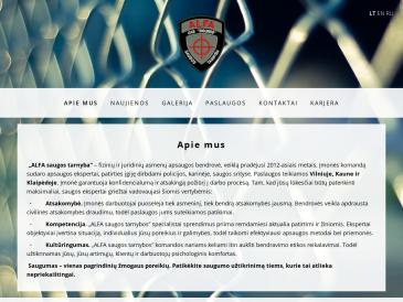 ALFA, saugos tarnyba