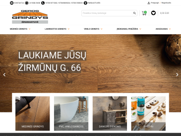 """Geros grindys, išparduotuvė, UAB """"Medžio apdaila"""", Vilniaus filialas"""
