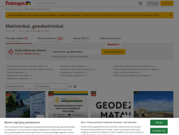 Pastatų ir žemės kadastriniai matavimai ir pastatų pridavimas