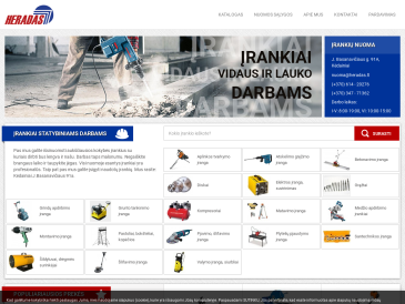 Heradas, įrankių nuoma, UAB