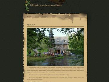 Tiltiškių vandens malūnas, VšĮ