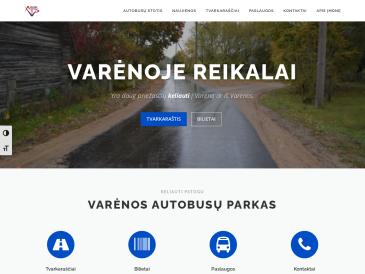 """Varėnos autobusų stotis, UAB """"Varėnos autobusų parkas"""""""