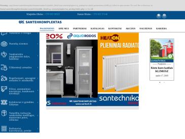"Santechnikos meistras, prekybos salonas, UAB ""Santehkomplektas"""