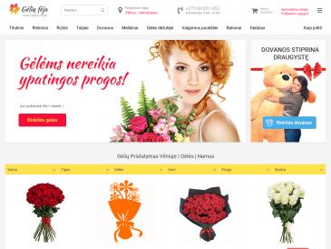 GeliuFeja.lt, Gėlių pristatymas Visoje Lietuvoje