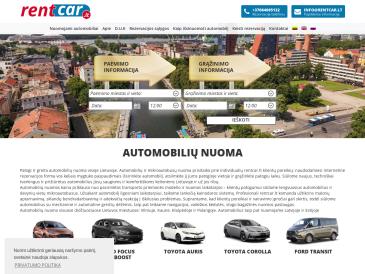Rent car, automobilių ir mikroautobusų nuoma
