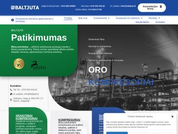 Baltjuta, kompresorių prekyba, remontas ir aptarnavimas, UAB