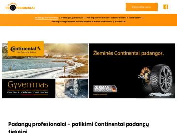 Padangų profesionalai, filialas, UAB