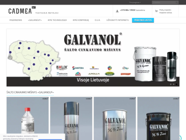 Cadmea, oficialus GALVANOL distributorius Lietuvoje