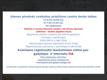 Utenos pirminės sveikatos priežiūros centras, VšĮ