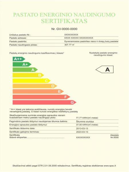 Pastatų energetinio naudingumo sertifikavimas