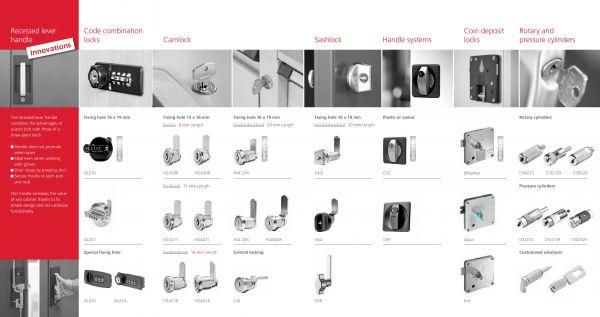 BURG mechaninės spynos baldams
