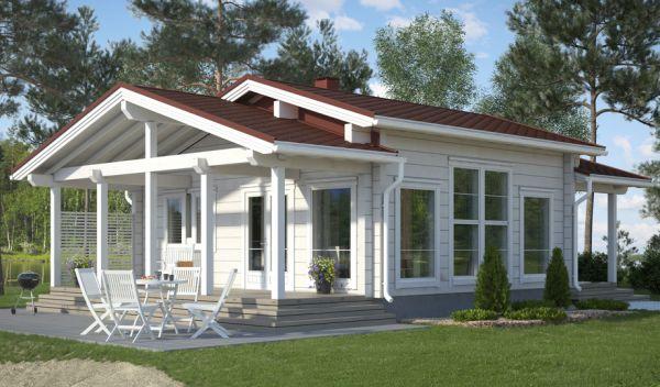 Suomiški mediniai namai
