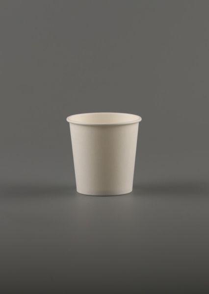 """Popieriniai puodeliai – stiklinės, vienasieniai """"Bianco"""", 4 oz"""