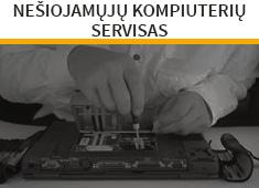 Nešiojamų kompiuterių servisas