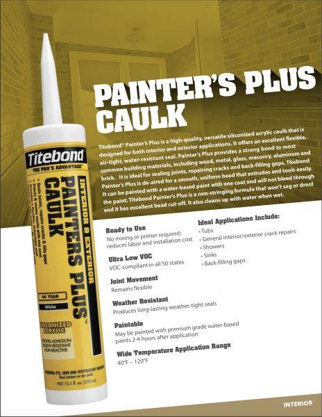 Silikoninis Hermetikas Vidaus ir Lauko Darbams Titebond® Painter's Plus (40 metų)