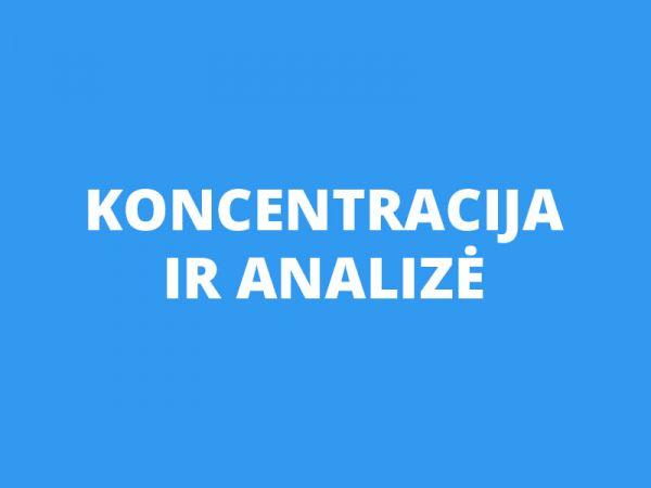 Koncentracijos ir analizės procesų lavinimas (vaikams ir suaugusiems)