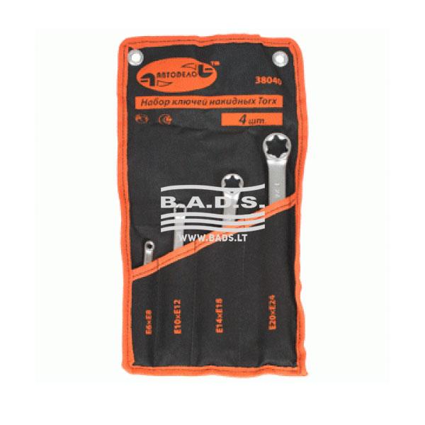 Įrankiai - Galvutės, Galvučių Rinkiniai -  Galvučių komplektai - Raktai E-tipo komplektas (4vnt) 38040