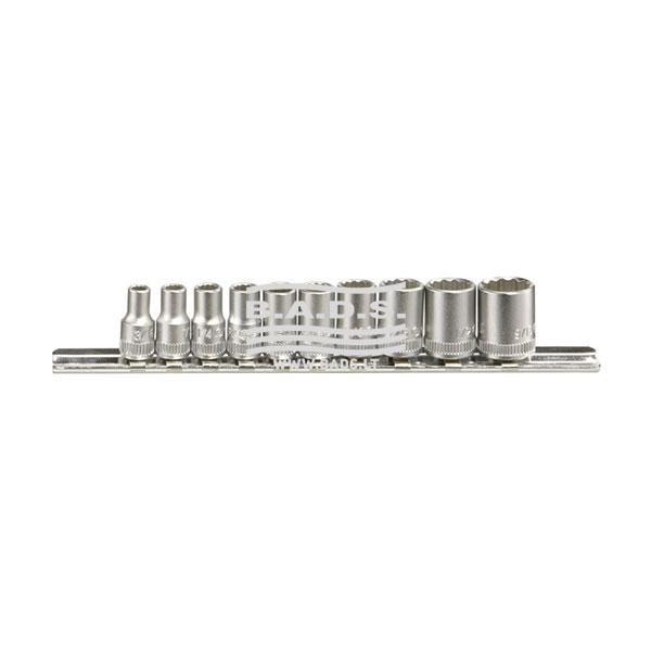 Įrankiai - Galvutės, Galvučių Rinkiniai - Galvučių komplektai - Galvučių 1/4 12-kampių colinių komplektas (10vnt) TW-210S