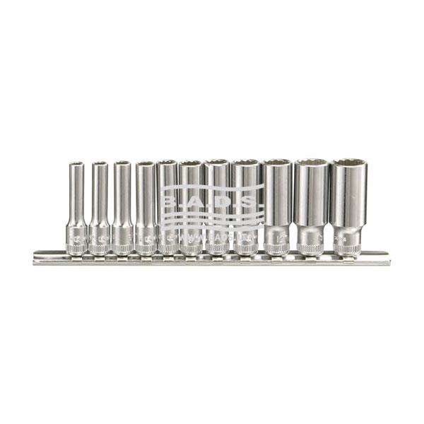 Įrankiai - Galvutės, Galvučių Rinkiniai - Galvučių komplektai - Galvučių 1/4 12-kampių ilgų komplektas (11vnt) TW-211MD
