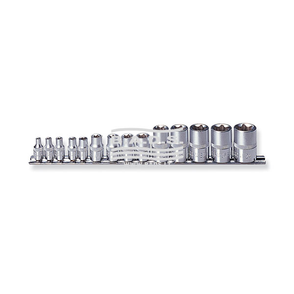 Įrankiai - Galvutės, Galvučių Rinkiniai - Galvučių komplektai - Galvučių E-tipo komplektas (14vnt) S06H414S