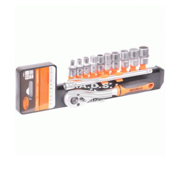 Įrankiai - Galvutės, Galvučių Rinkiniai - Galvučių komplektai - Galvučių rinkinys 1/4, (12vnt) 39844