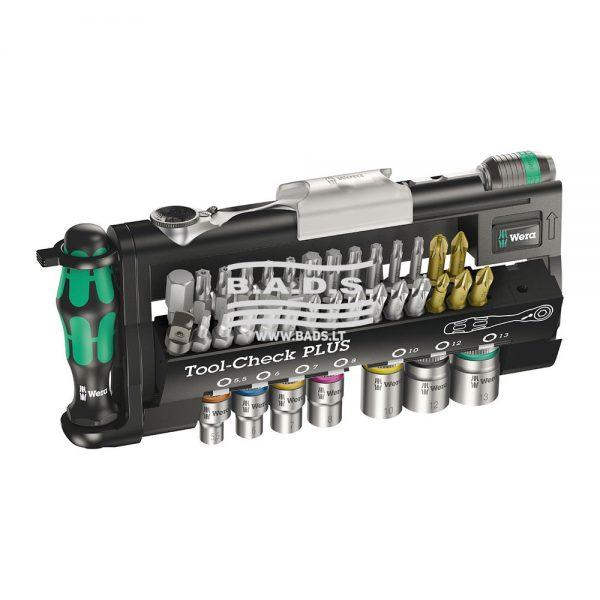 Įrankiai - Atsuktuvai ir antgaliai - Antgalių komplektai - Įrankių komplektas Tool Check PLUS (37vnt) 05056490001