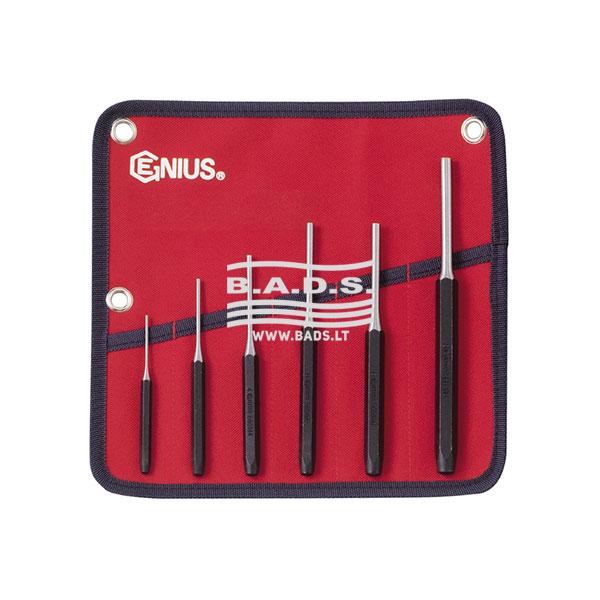 Įrankiai - kalami Įrankiai - Kalamų Įrankių Komplektai - Išmušėjų komplektas (6vnt) PC-566MP