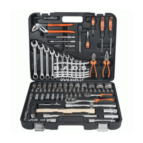 Įrankiai - Galvučių ir įrankių komplektai - Įrankių komplektas lagamine (101vnt) 39899