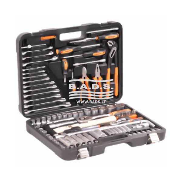Įrankiai - Galvučių ir įrankių komplektai - Įrankių komplektas lagamine (119vnt) 39909