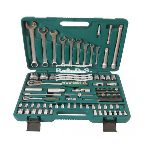 Įrankiai - Galvučių ir įrankių komplektai - Įrankių komplektas lagamine (82vnt) S04H52482S
