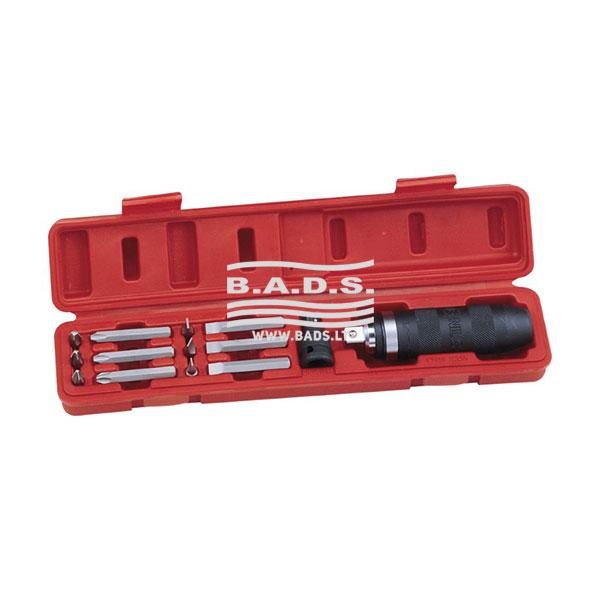 Įrankiai - Galvučių ir įrankių komplektai - Įrankių komplektas plastikinėje dežuteje (14 vnt.) ID-414