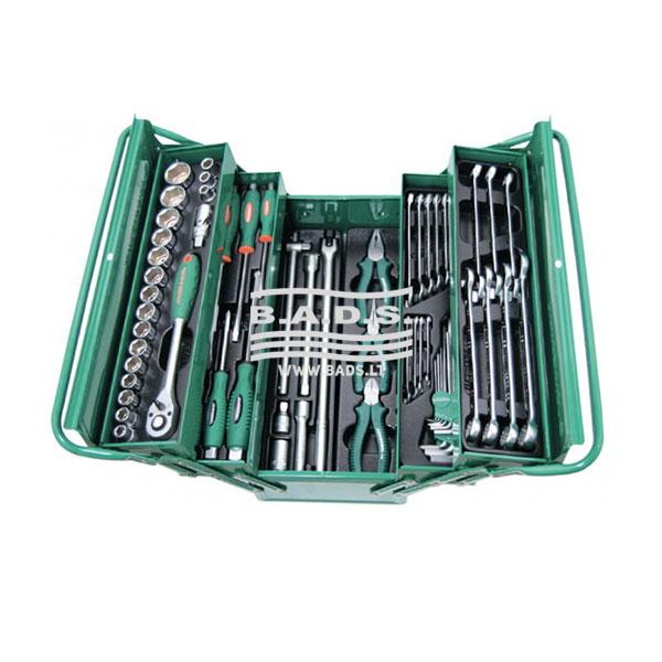 Įrankiai - Įrankių dėžės su įrankiais - Įrankių dėžė su įrankiais (62vnt) C-3DH262