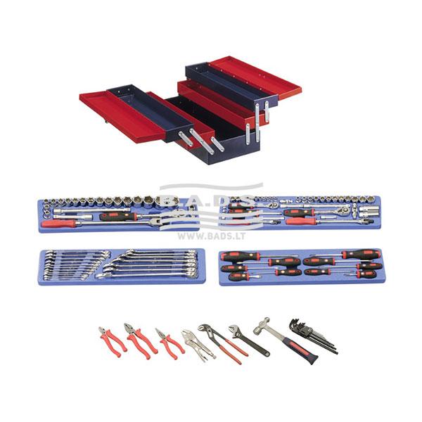 Įrankiai - Įrankių dėžės su įrankiais - Įrankių dėžė su įrankiais (110vnt) MS-110TS