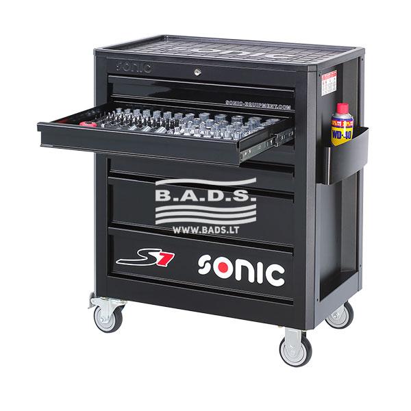 Įrankiai - Įrankių vežimėliai su įrankiais - Įrankių vežimėlis su įrankių komplektu (140vnt) 714040