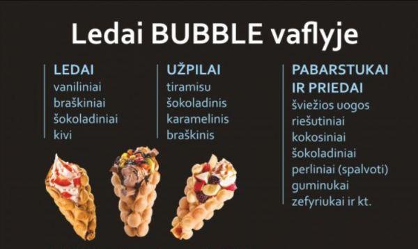Ledai Bubble vaflyje